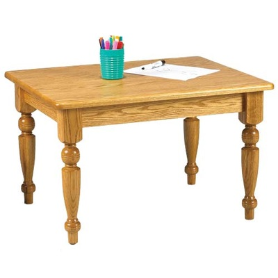 CTAB CL Country Lane Kids 24 Dx30 W 2 1 2  Turned Leg Table. Wooden Games  Kids Furniture  Hall Trees  Wood Gun Cabinets and